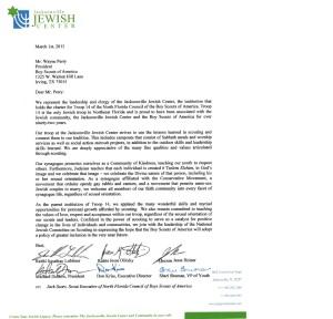 Boy Scouts Letter