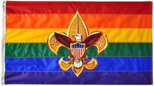 gay_rainbow_flag_with_Boy_Scout_emblem
