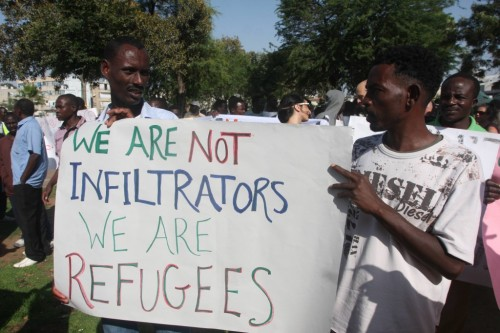 AfricanRefugeesProtest