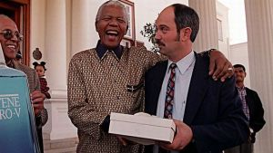 Nelson Mandela and Christo Brand