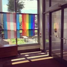 PrideFlagsInLobby